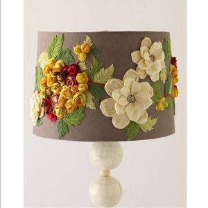 Anthropologie Rose Landscape Lampshade